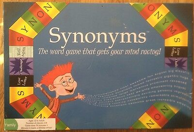 Synonyms Educational Board Game (over 10,000 words-varying levels) Ages 12+