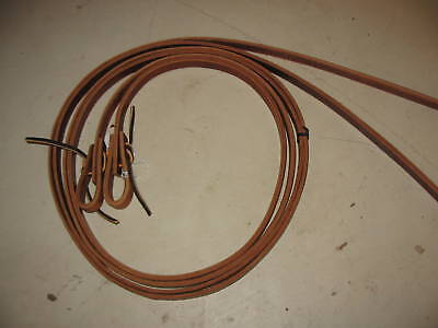 """Used NEW horse tack thick leather split reins trail 5/8"""" thick trail riding"""