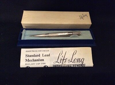 Sterling Silver Life-Long Propelling Mechanical Pencil With Box & Instructions