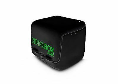 Black Large Fibreglass Motorbike / Scooter Delivery Top Box