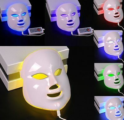3 Colors Lights LED Facial Mask Skin Rejuvenation Beauty Therapy Wrinkle Removal