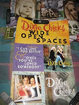 DIXIE CHICKS-(wide open spaces)-24X36 POSTER-2 SIDED-MINT-RARE