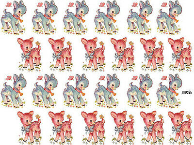 KiDs! SMaLL BaBY LamB ShaBby WaTerSLiDe DeCALs *KNoBs*HanGeRs*