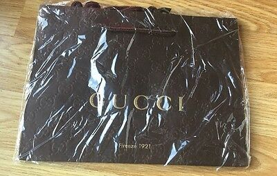 Brand New Genuine GUCCI Brown Paper Gift Bag!!!