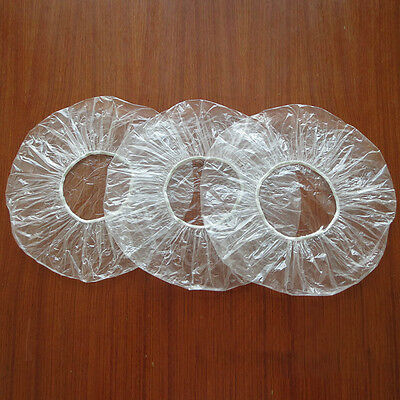 Hot Sale 100Pcs Disposable Hat Hotel One-Off Elastic Shower Bathing Cap Clear