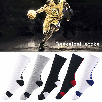 Pair Men Professional Basketball Socks Thickening Outdoor Sports Elastic Sock AU