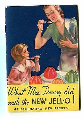Vintage Advertising & Recipe Booklet JELL-O What Mrs Dewey did 1933
