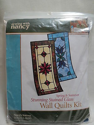 Sewing With Nancy Quilting Kit stained glass wall quilt spring summer