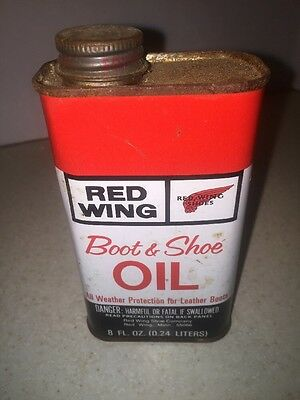 Red Wing Boot and Shoe Oil Advertising Tin