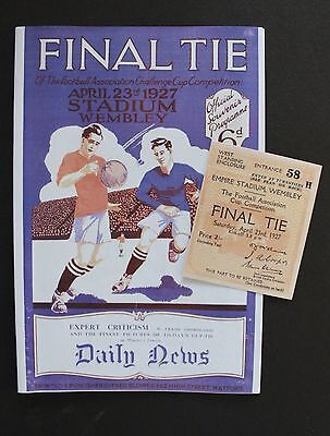 1927 FA Cup Final Cardiff City Vs Arsenal Programme Ticket