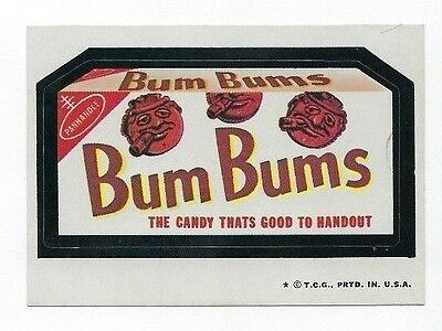 1974 Topps Wacky Packages 6th Series 6 BUM BUMS CANDY nm