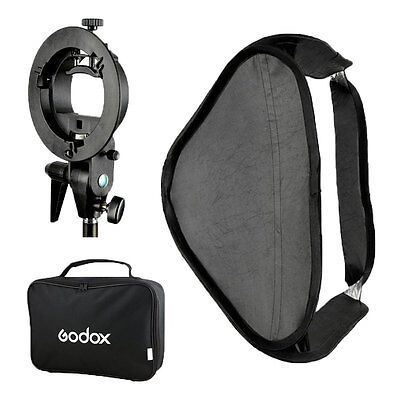 Godox 60x60cm Softbox + S Style Speedlite Bracket + Bag Kit for Camera Flash Hot