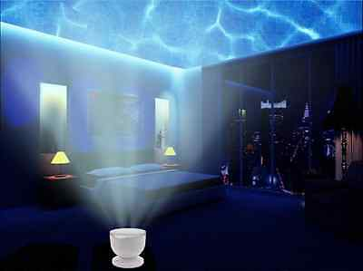 Ocean Wave Night Light Projector and Music Player. Romance and Relax Effe... New