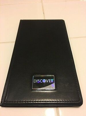 1 Discover Guest Check Presenter - Black, Credit Card, Bill Receipt Holder
