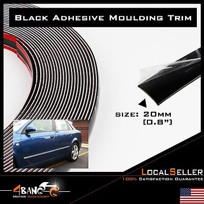 25ft Hot Sale SUV Black Moulding Trim Decorate Strip Bumper Roof Edge Guard DIY