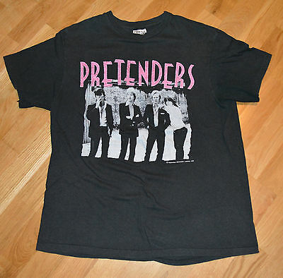 RaRe *1981 THE PRETENDERS* vtg rock concert tour shirt (L) 80s Chrissie Hynde