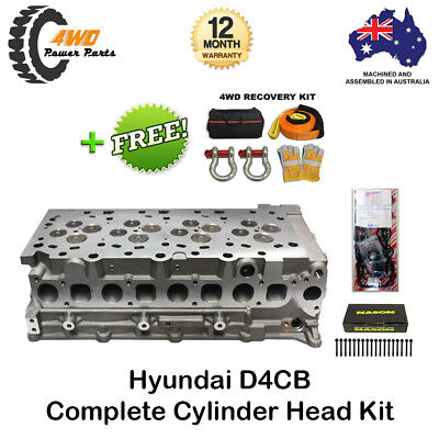 Hyundai D4CB 4 Cyl 16v Diesel New Complete Head with VRS Gasket and Bolts