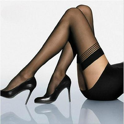 Fashion Women Tights Pantyhose Thigh-highs Stockings Stripes