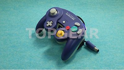 Nintendo Official GameCube Wii controller Purple/Clear / TESTED