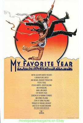 MY FAVORITE YEAR MOVIE POSTER Original 27x41 Rare Rolled 1982 PETER O'TOOLE