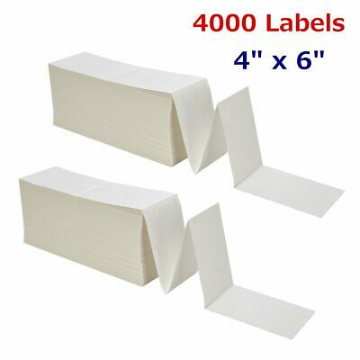 4000 Fanfold 4x6 Direct Thermal Shipping Barcode Labels - Zebra 2844 USPS FedEx