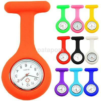 Pop Jewelry Silicone Case Nurse Medical Doctor Watch Brooch Tunic Fob Watches