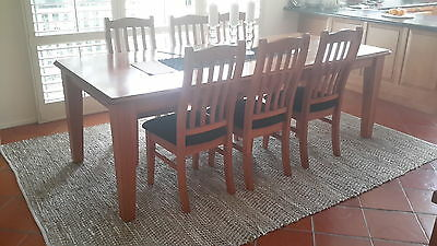 Dining Table with 8 Chairs - Solid Vic Ash