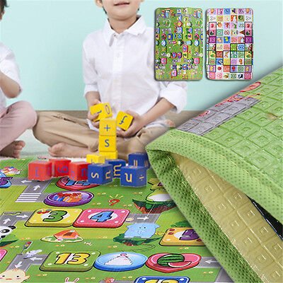 2Side Kid Crawling Educational Game Play Mat Soft Form Picnic Floor Large Carpet