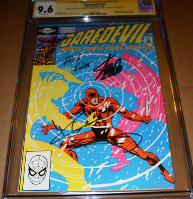 Daredevil #178 CGC SS SIGNED Stan Lee Frank Miller Cox Colter Luke Cage Netflix
