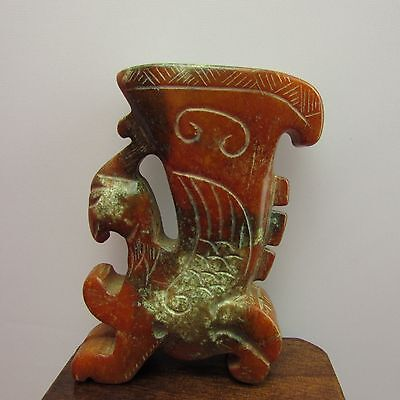 Chinese Jade hand carved with statues the Phoenix  beautiful jade statue A699