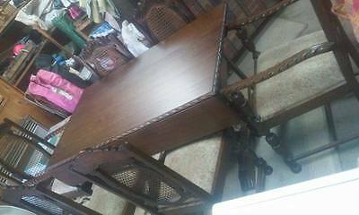 jacobean dining table 6 chairs