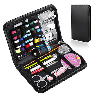 Portable Set Home Travel Thread Threader Needle Tape Measure Scissor Sewing Kit