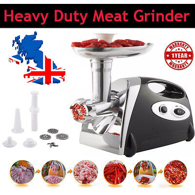 2800W Electric Meat Grinder Kitchen Sausage Sala Maker Stainless Steel Mincer BK