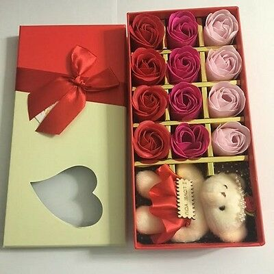 Cute Bear & Roses For Lovers In Valentine Day Valentine Gift