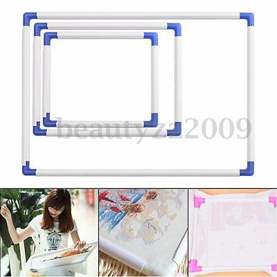 Plastic Cross Stitch Embroidery Frame Holder Hoops Needle Sewing DIY Craft Stand