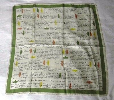 Palm Reading Palmistry Occult French Silk Scarf Must See Motif