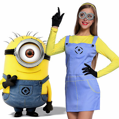 Carnevale Cosplay Costume Donna da Minions Despicable Me Cattivissimo Me Adulti