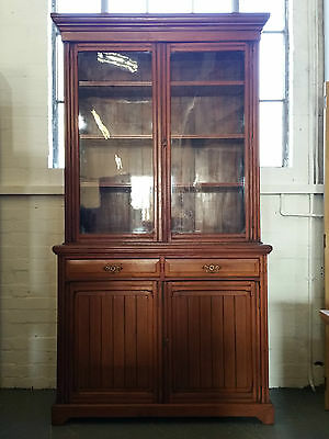 Antique Edwardian Mahogany Glazed Bookcase