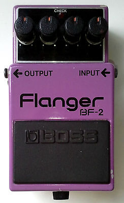 Boss Roland BF-2 Flanger Made In Japan MIJ 1984 Vintage Green Label Effect Pedal