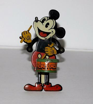 "Disney 1931 ""mickey Mouse Jazz Drummer"" Tin Mechanical Toy-Works Great-Scarce!"
