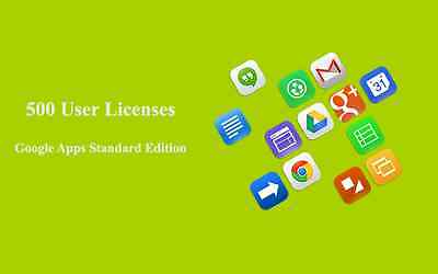 Domain name with 500 users for Google apps Standard Edition
