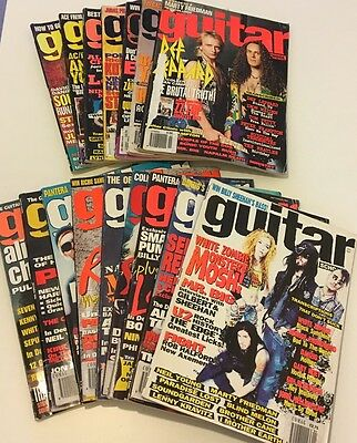Collection of 16 No. Issues Of Guitar School Magazine 1992 - 1996