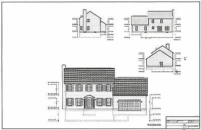 Full Set of two story 4 bedroom house plans 2,192 sq ft