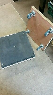 2 Dolly Truck Platform Removals Trolley Flat Bed Wooden Barrow Heavy Duty moving