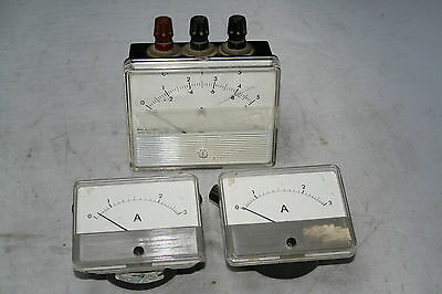 Ammeter Moving Coil Philip Harris Educational Bench Meter Lot Ac-Dc