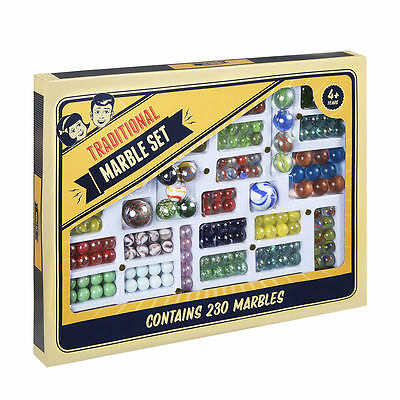 230 Traditional Glass Marbles Marble Set Game Children Kids Gameset Collectable