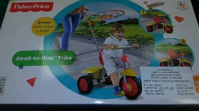 Yellow & Red Glee Plus Smart Trike 2-In-1 Tricycle Toddler Bike Touch Steering