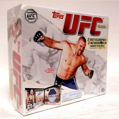 2010 Topps - Ufc Trading Cards - 24 Packs - Full Box Unopened / New / Sealed