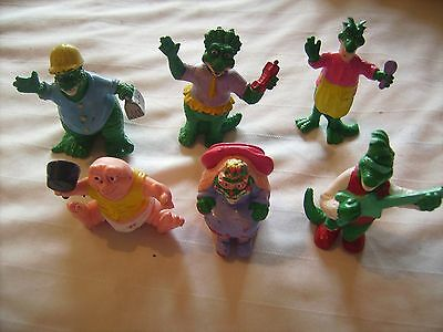 Set Of 6 Figures, Dinosaurs Family Sinclair, Vintage Retro Tv Series