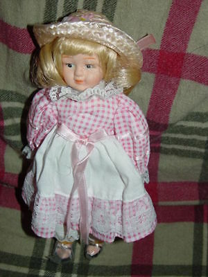 """Friends Till The End of Time Porcelain Miniatures Doll 8"""" Tall"""